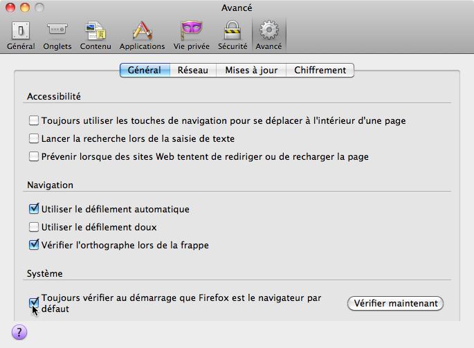 Firefox - Default web browser