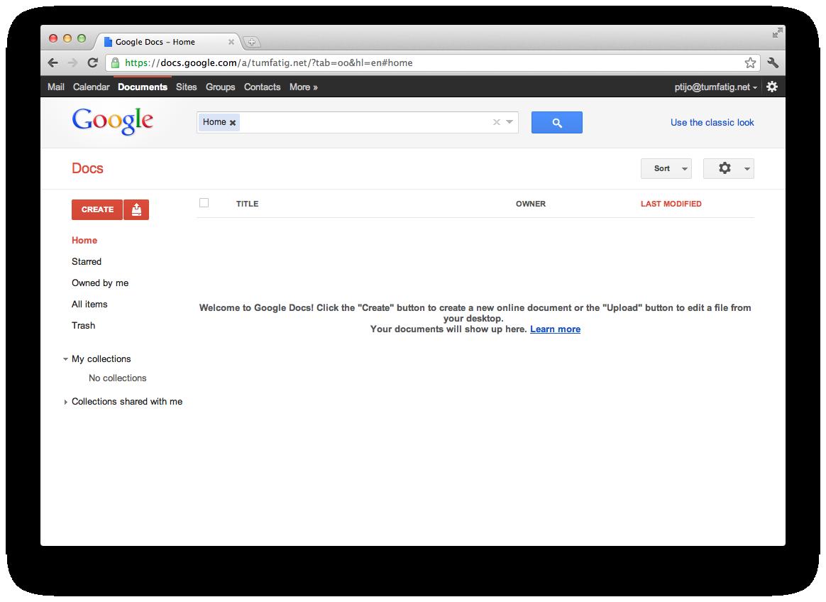Google Docs Home