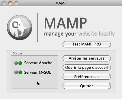 MAMP managing box