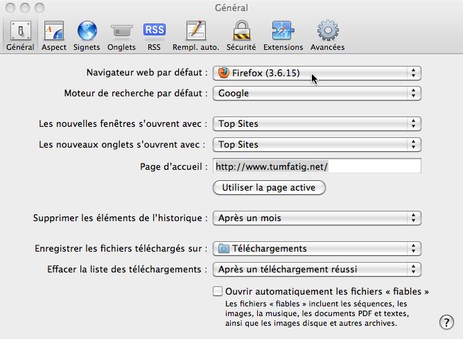 Safari - Default web browser