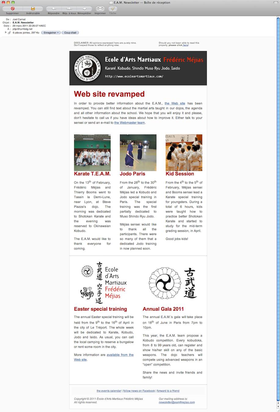 Newsletter in Mac Mail