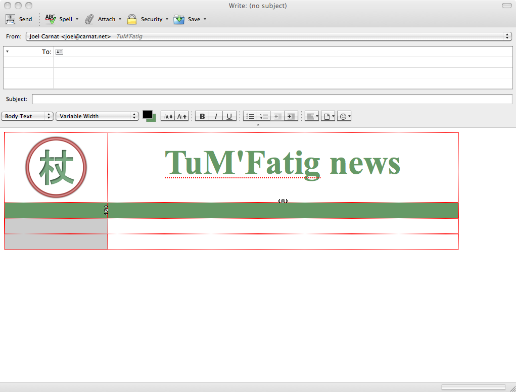 Newsletter's header