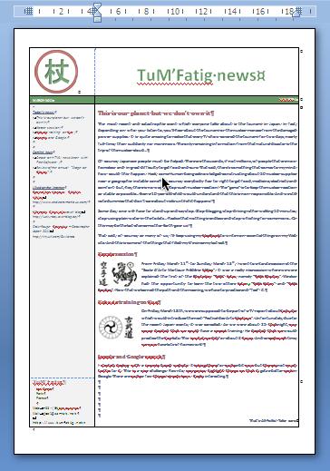 Newsletter, in Word formatting.