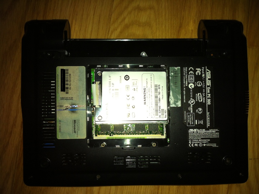 SSD install option 1