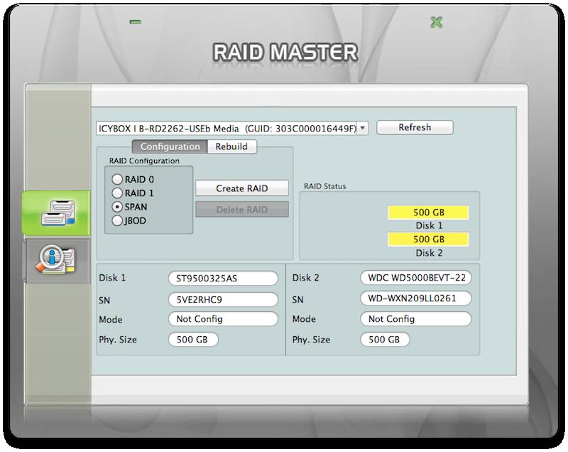 RAID Master create