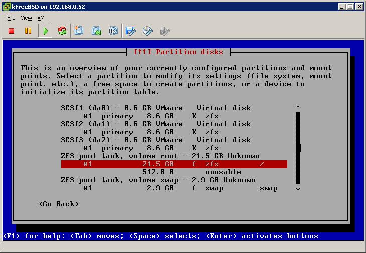 Final ZFS configuration