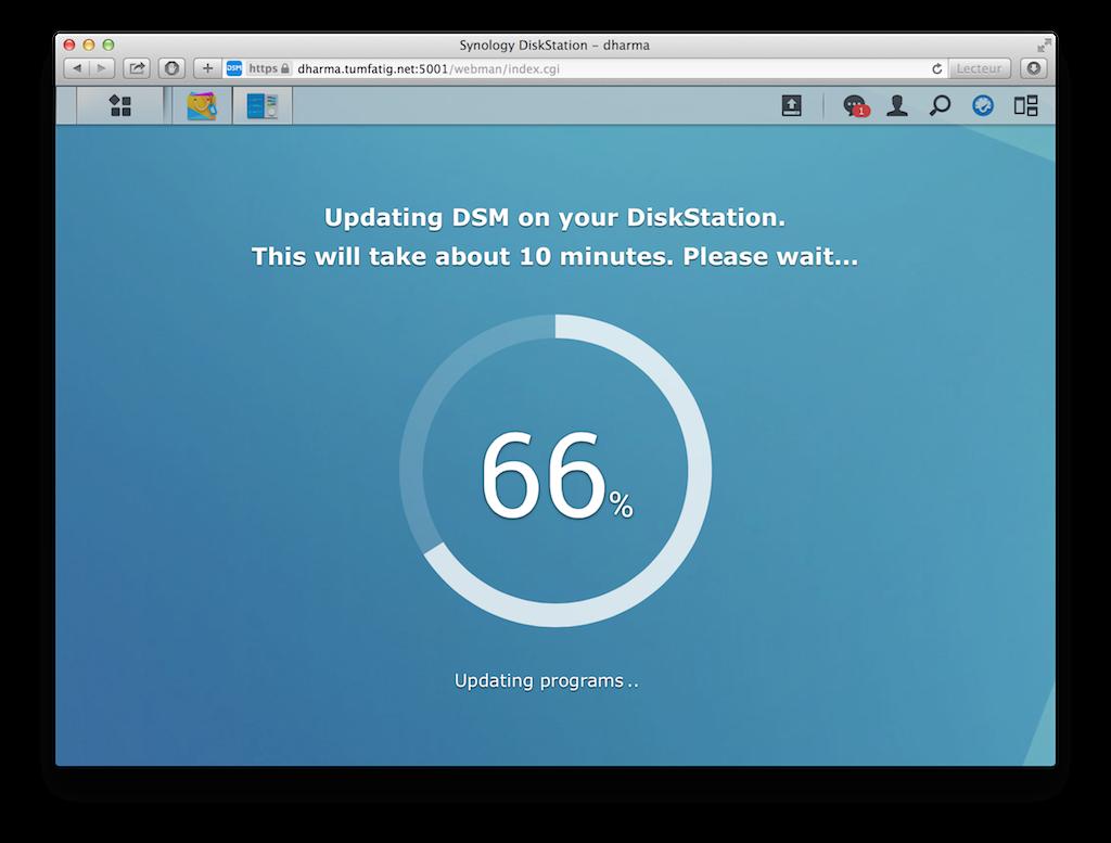 DSM 5.0-4493 update 4 installing...