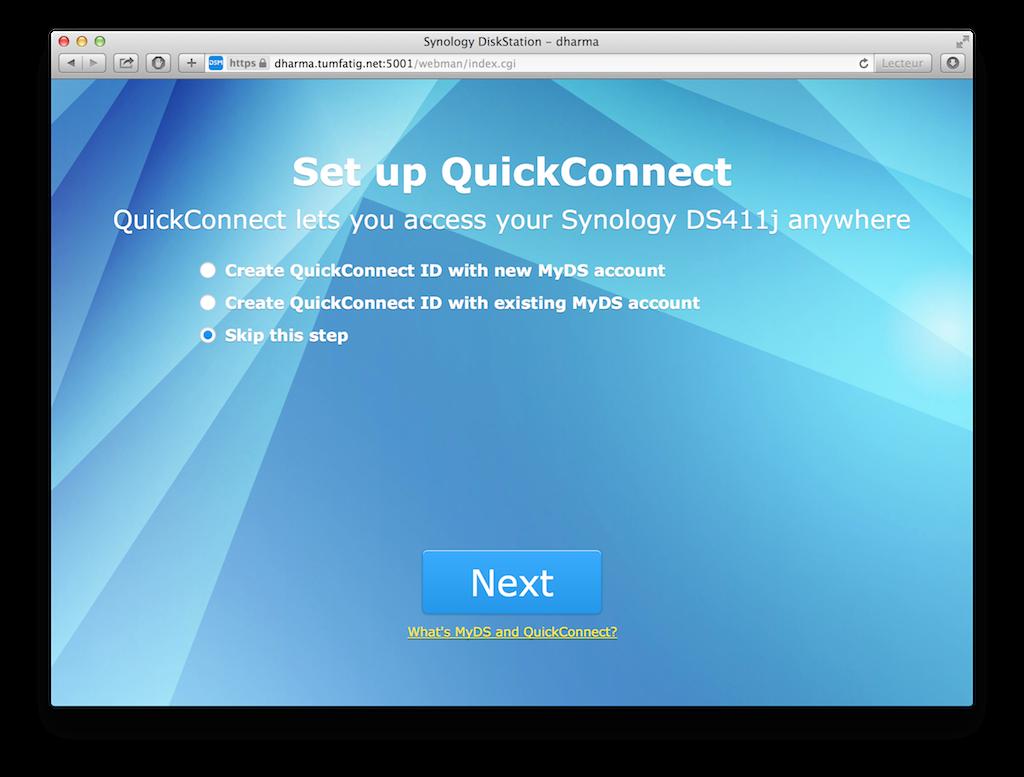 DSM5: Set up QuickConnect