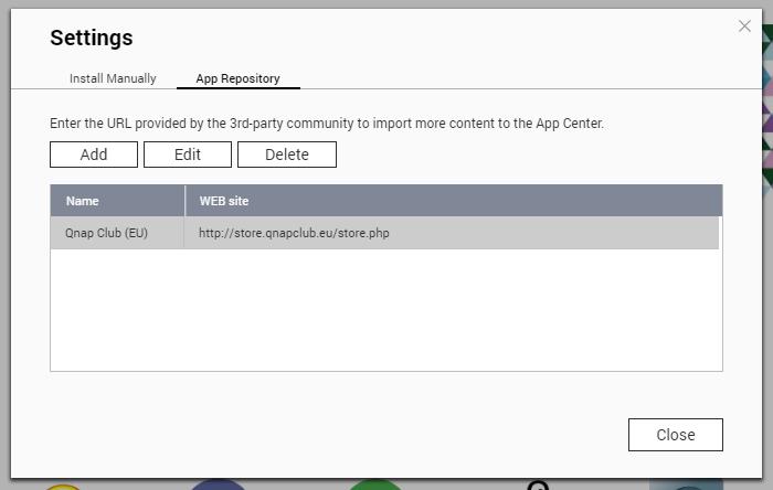 QTS Add Application Repository