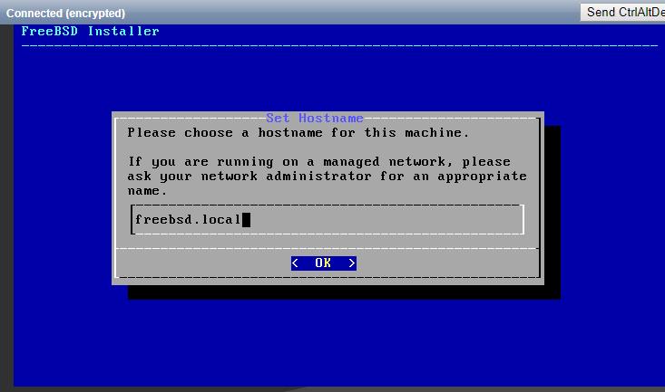 Specify the hostname