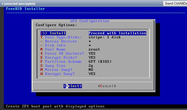 Check the Encrypt Disks option