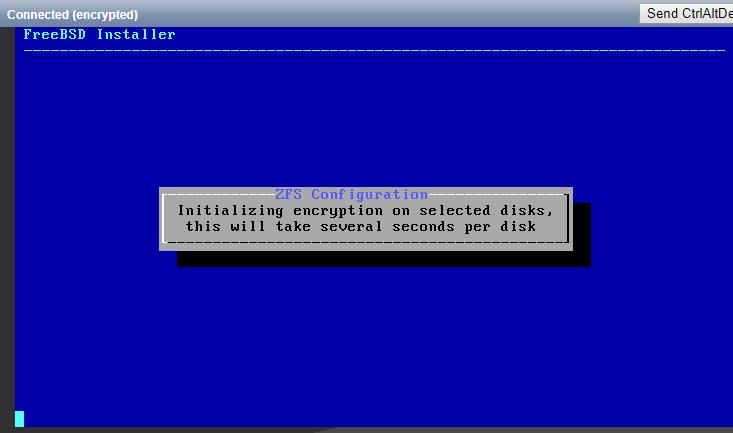 Wait for encryption proces