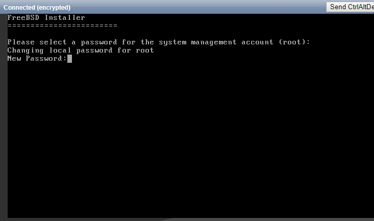 Enter the root password