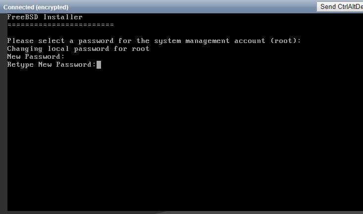 Retype the root password