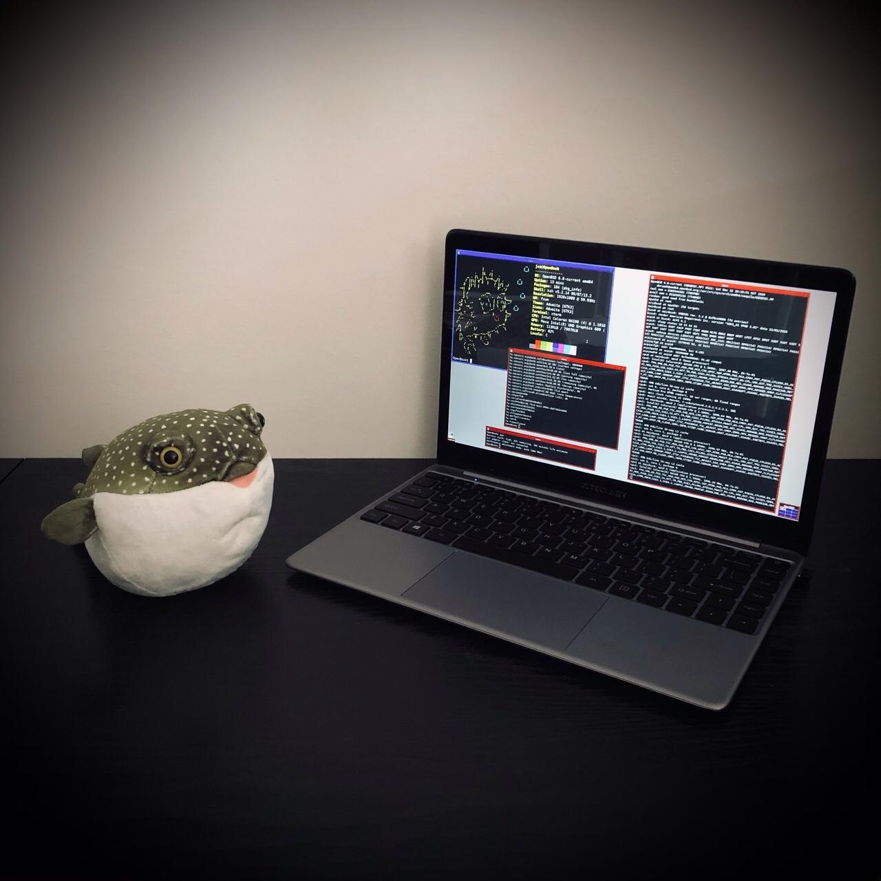 OpenBSD 6.8-current on Teclast F7 Plus